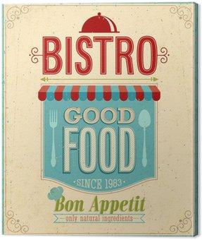 Obraz na Płótnie Vintage Bistro Poster. Ilustracji wektorowych.