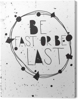 Obraz na Płótnie Vintage grunge inspirujący plakat z cytatem i design elemen