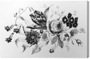 Obraz na Płótnie Vintage, kwiaty