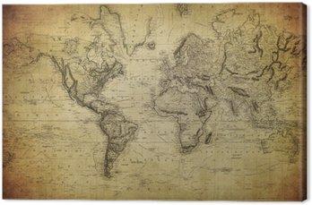 Obraz na Płótnie Vintage, mapa świata 1814 ..