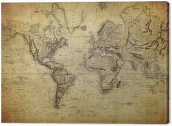 Vintage, mapa świata 1814 ..
