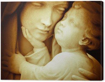 Obraz na Płótnie Vintage obraz Najświętszej Marii Panny niosący Dzieciątka Jezus
