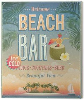 Obraz na Płótnie Vintage plakat Beach Bar.