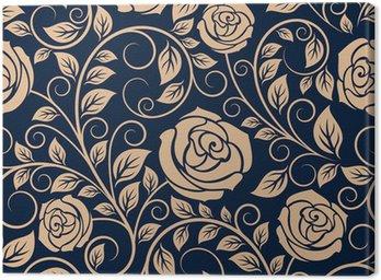 Obraz na Płótnie Vintage róże kwiaty szwu