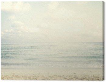 Obraz na Płótnie Vintage tropikalnej plaży w lecie