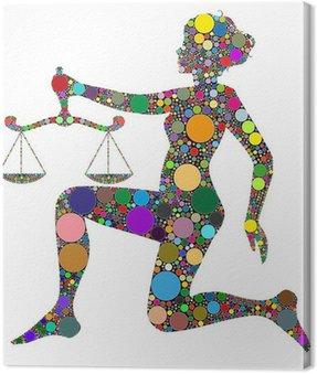 Obraz na Płótnie Wagi, znak zodiaku składa się z kolorów