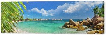 Obraz na Płótnie Wakacje w raju tropikalnych wysp Seszeli
