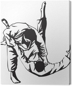 Obraz na Płótnie Walka judo