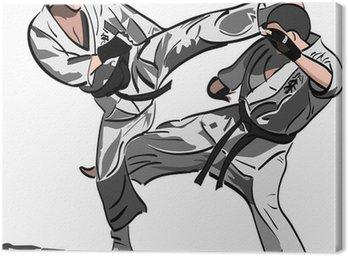 Obraz na Płótnie Walka Karate