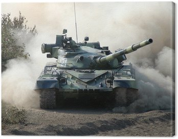 Obraz na Płótnie War. Tank w ruchu