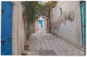 Obraz na Płótnie Wąska ulica w Sousse