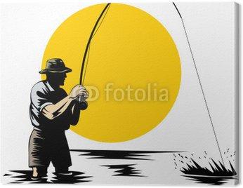 Obraz na Płótnie Wędkarstwo muchowe