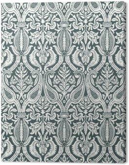 Obraz na Płótnie Wektor bez szwu kwiatowy wzór adamaszku rocznika abstrakcyjne backgroun