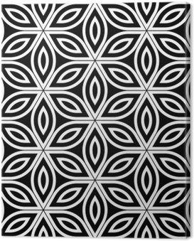 Obraz na Płótnie Wektor bez szwu święty wzór nowoczesnej geometrii, czarno-białe abstrakcyjne geometryczne kwiat tle życia, tapety druku, monochromatycznych retro tekstury, projektowanie mody hipster