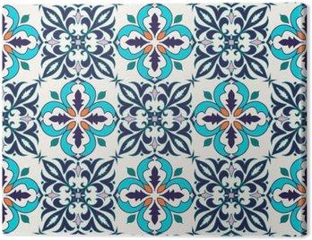 Obraz na Płótnie Wektor bez szwu tekstury. Piękny kolorowy wzór do projektowania i mody z elementami dekoracyjnymi