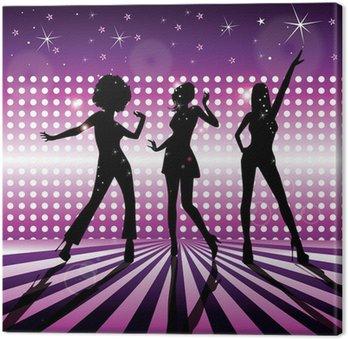Obraz na Płótnie Wektor dziewczyny disco