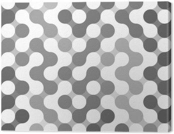 Obraz na Płótnie Wektor geometryczny wzór z kręgów.