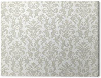 Obraz na Płótnie Wektor powtarzalne kwiatowy wzór adamaszek