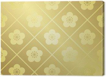 Obraz na Płótnie Wektor wzór złoto japoński