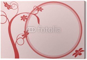 Obraz na Płótnie Wektor zestaw - wektor drzewo i okno komunikatu