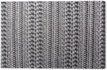 Obraz na Płótnie Wełna Knitting bliska tekstury