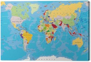 Obraz na Płótnie Weltkarte_kompass