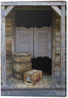 Obraz na Płótnie Western Saloon Style z beczki i pole