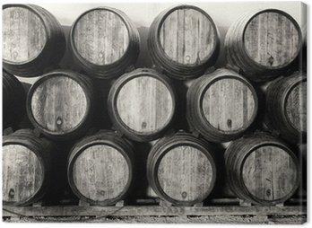 Whisky lub wina baryłek w czerni i bieli