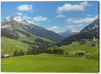 Obraz na Płótnie Widok alpejski (Vorarlberg, Austria)