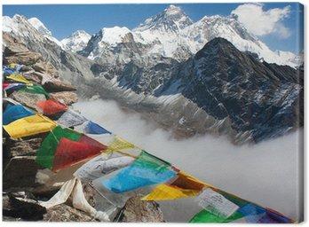 Obraz na Płótnie Widok na Everest z Gokyo Ri - droga do obozu bazowego Everest