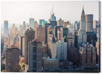 Obraz na Płótnie Widok z lotu ptaka na panoramę Nowego Jorku