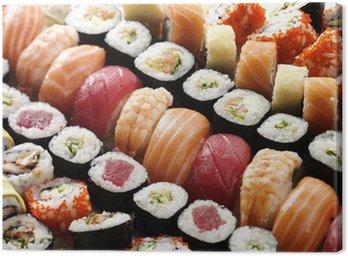 Obraz na Płótnie Wiele sushi