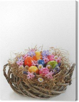 Obraz na Płótnie Wielkanocny koszyk wyizolowanych portret