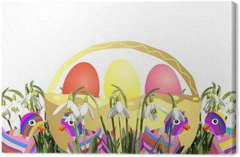Obraz na Płótnie Wielkanocny koszyk
