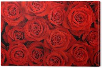 Obraz na Płótnie Wielki bukiet czerwonych róż