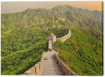 Obraz na Płótnie Wielki Mur Chiński w zachodzie słońca