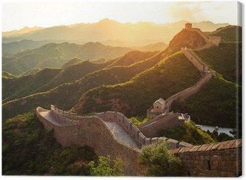 Wielki Mur pod słońcem podczas zachodu słońca