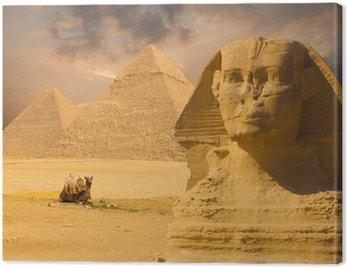 Wielkie Piramidy Sfinks twarzy Biały Zachód
