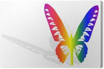 Obraz na Płótnie Wielobarwny motyl i cień