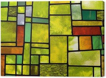 Obraz na Płótnie Wielobarwny okno witraże, format kwadratowy