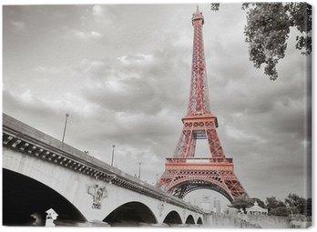 Obraz na Płótnie Wieża Eiffla monochromatyczny selektywne koloryzacja