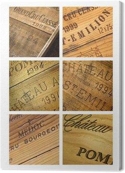 Obraz na Płótnie Wina skrzyni, zamek, vintage, bordowy, winnica, piwnica
