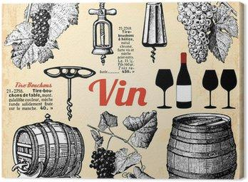 Obraz na Płótnie Wino ....