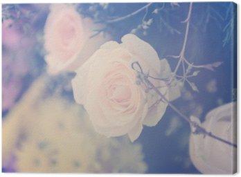Obraz na Płótnie Winobrania wzrósł bukiet kwiatów łagodne tło
