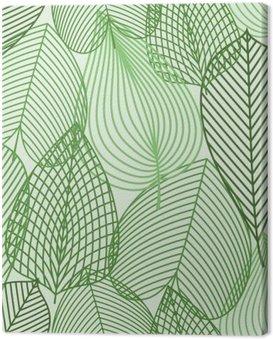 Obraz na Płótnie Wiosną zielone liście szwu wzór