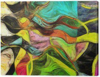 Wirujące kształty, kolor i linie