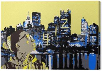 Obraz na Płótnie Wiz Khalifa w Pittsburgh 412