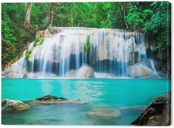 Obraz na Płótnie Wodospad w dżungli w prowincji Kanchanaburi, Tajlandia