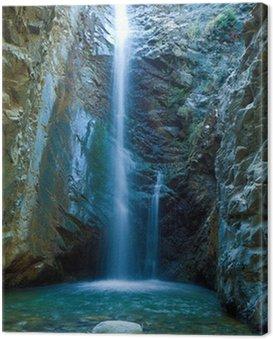 Obraz na Płótnie Wodospady Chantara w górach, Cypr Trodos