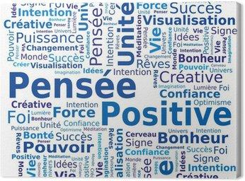 Obraz na Płótnie Word cloud - pozytywne myślenie w języku francuskim